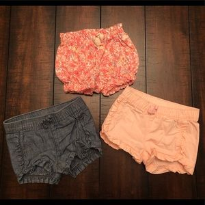 Old Navy + GAP Bundle of 3 toddler girls shorts